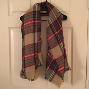 Super Soft Plaid Blanket Scarf